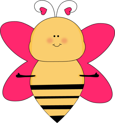 Heart bee with open. Bees clipart teacher