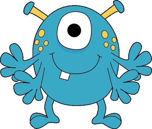 Blue clipart monsters. Monster for kids four