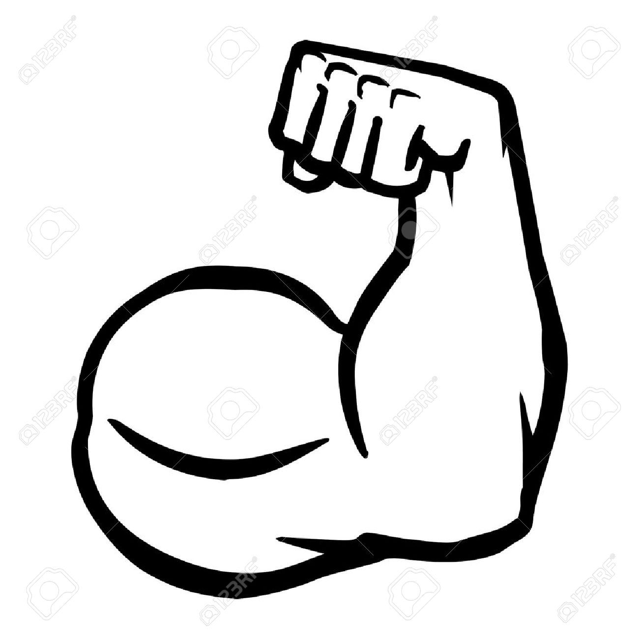 Bicep clipart muscle mass. Biceps drawing at getdrawings