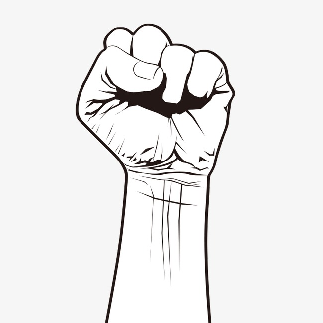 Arms clipart fist. Clenched gesture png image