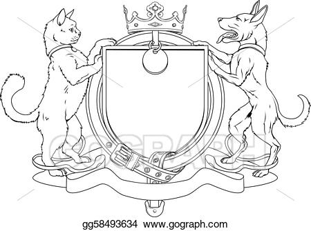 Arms clipart line art. Vector stock cat and