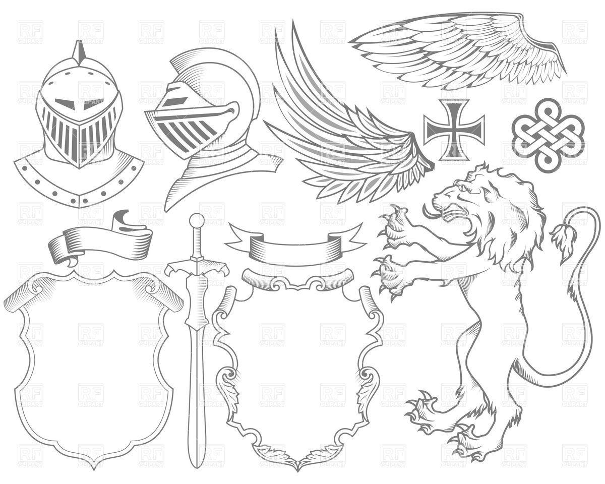 Heraldry symbols clip art. Medieval clipart medieval symbol