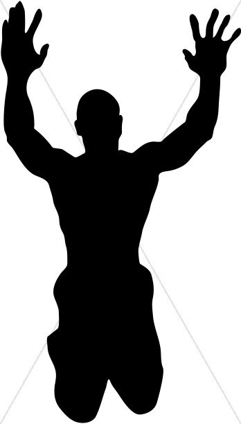 Arms clipart silhouette. Muscle man clip art