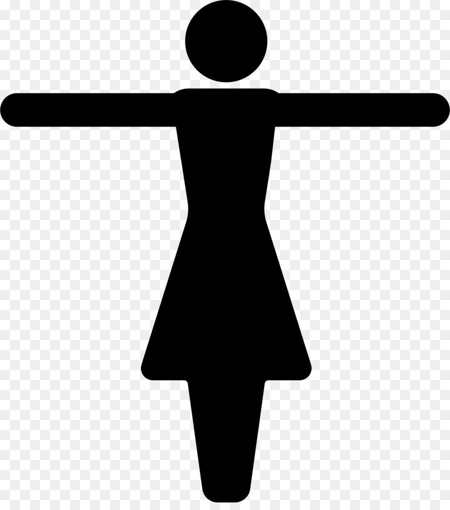 Gender symbol female clip. Arms clipart silhouette
