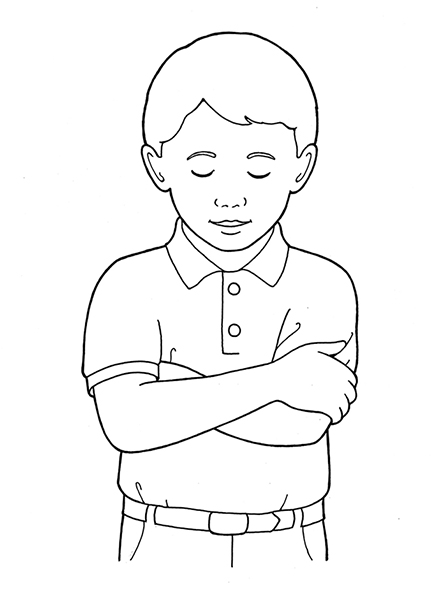 Arms clipart two. Primary boy folding and
