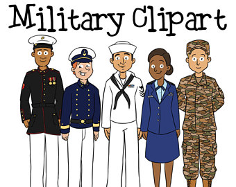 Army clipart armed force. Air etsy military marines