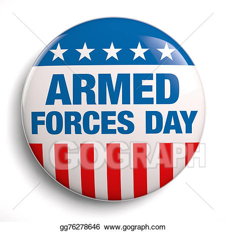 Army clipart armed force. Stock illustration forces day