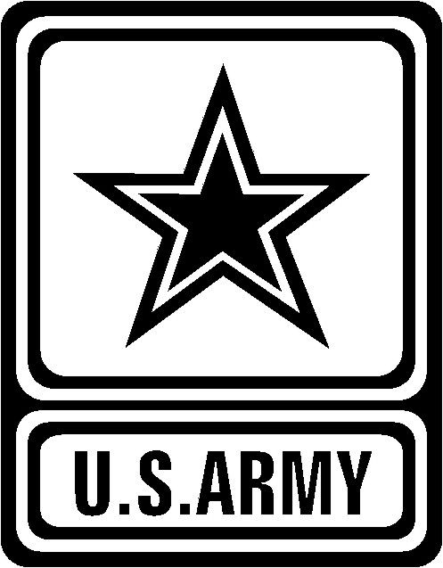 Army clipart army logo. Logos black and white