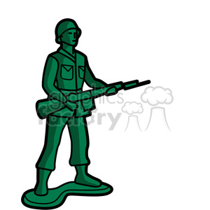 Green toy infantry soldier. Army clipart army man