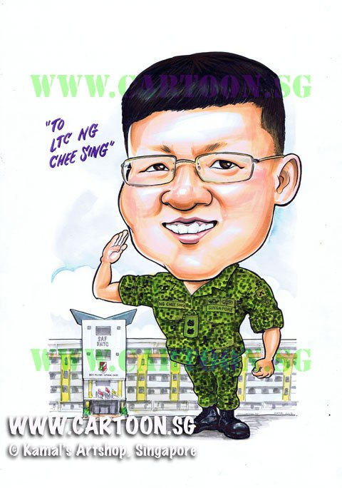 Army clipart army officer. Cartoon sg singapore caricature