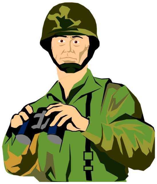 Everyday hero free collection. Army clipart army person