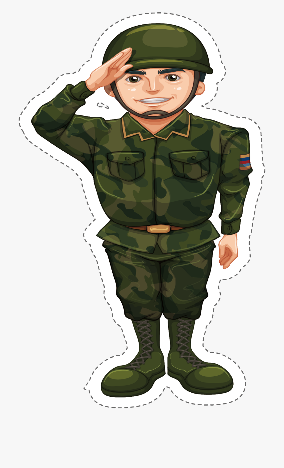 Military camouflage soldier doing. Army clipart army person