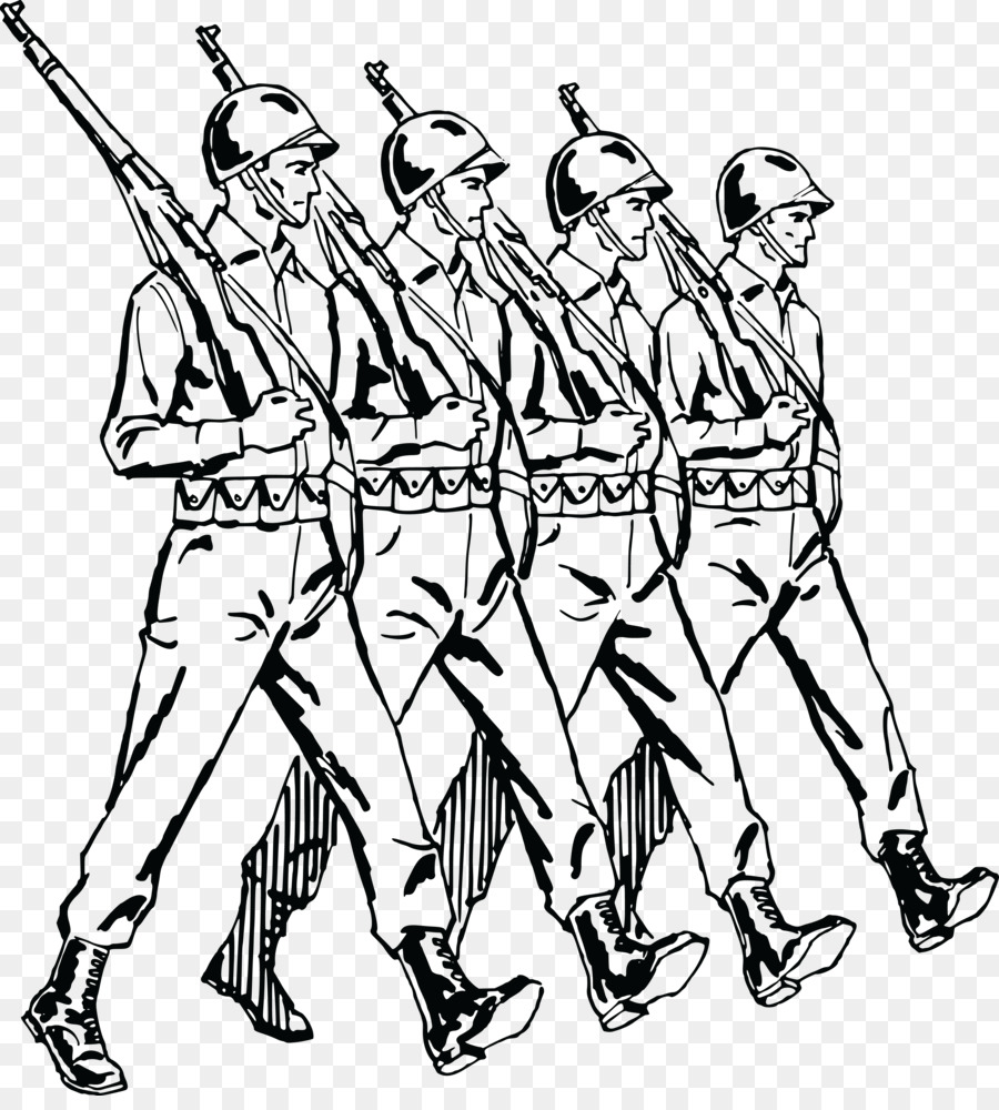 Army clipart army uniform. Marching soldier clip art