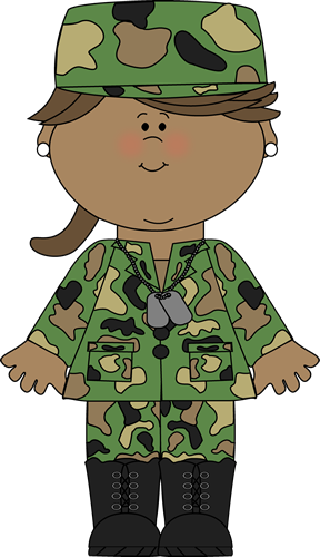 Army clipart army uniform. Girl soldier camouflage printables