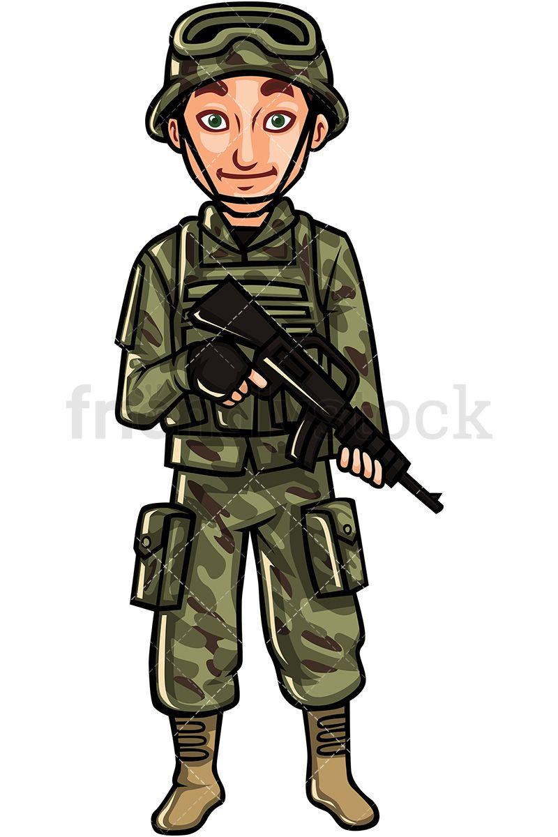 Us army soldier in. Warrior clipart soilder