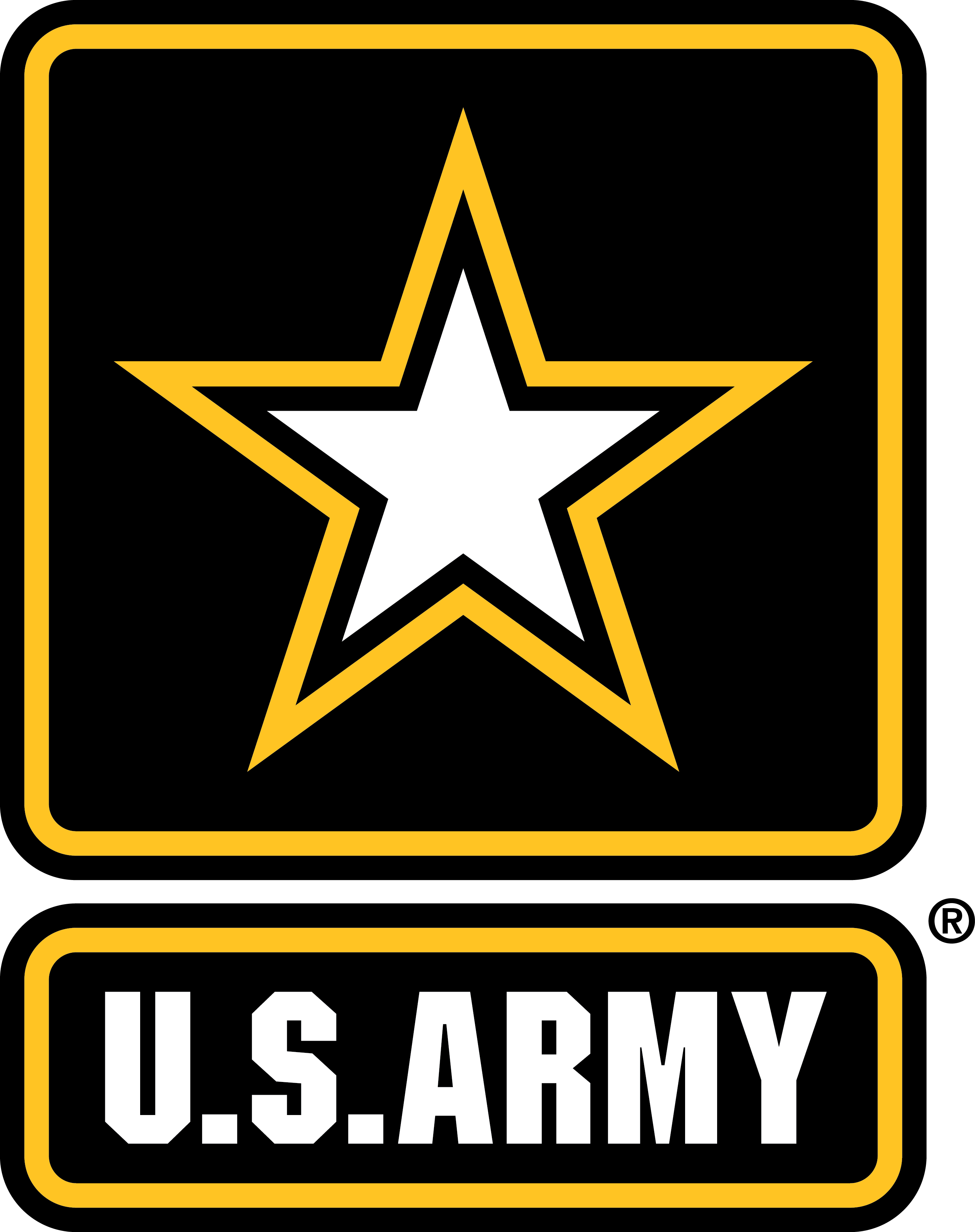 Army clipart badges. Symbols insignias of the