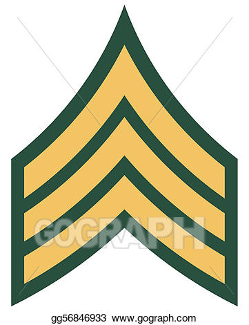 Stock illustration american rank. Army clipart badges
