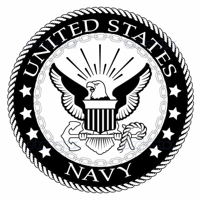 Navy clipart insignia. Us large back patch