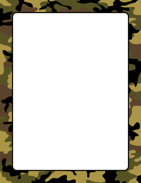 Hunting clipart border. Camouflage page free downloads