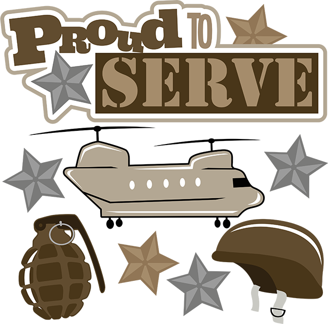 Proud to serve svg. Military clipart cute
