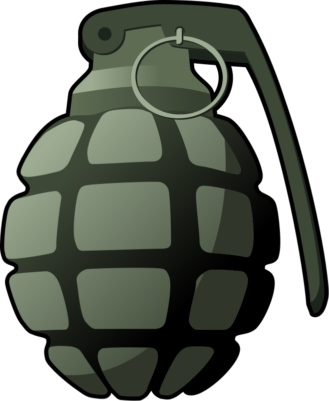 Army grenade pencil and. Hand clipart bomb