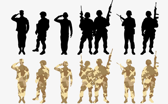 Army clipart group soldier. Png vectors psd and