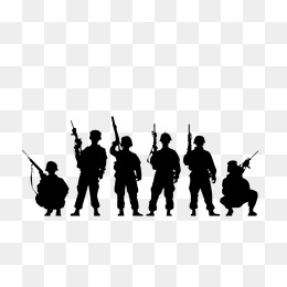 Army clipart group soldier. Soldiers with guns png
