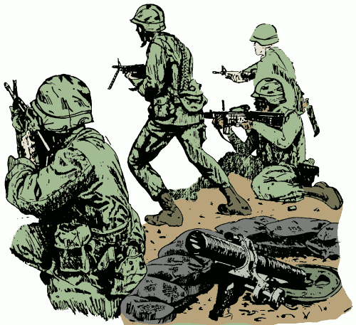 A piece of knowledge. Army clipart group soldier