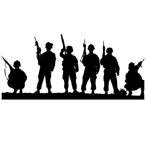 Army clipart group soldier.  best shadow silhouette