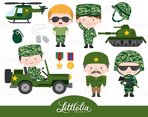 Army clipart military.
