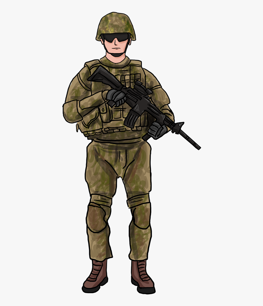 Soilder many interesting cliparts. Army clipart military