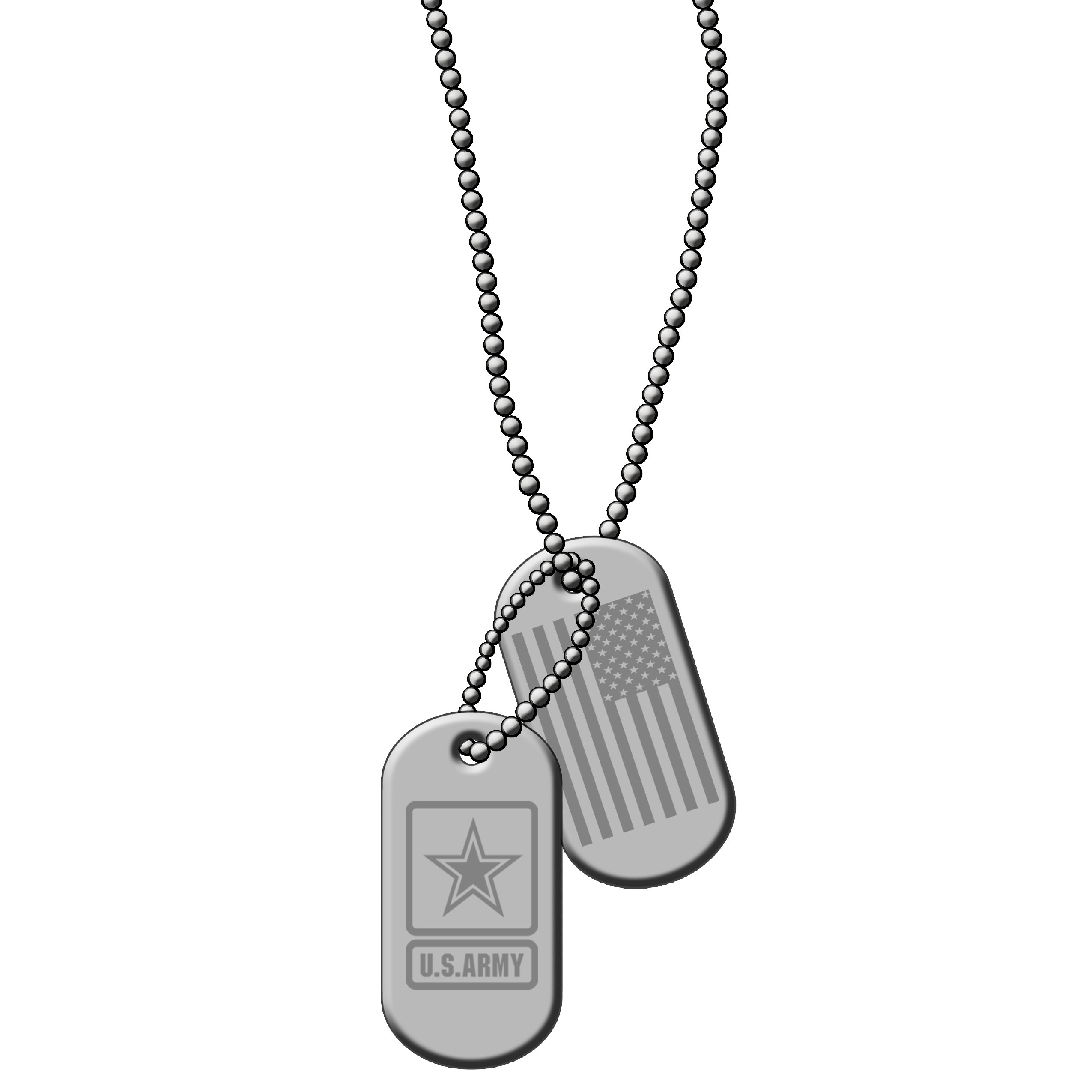 Military clipart military family. Id dog tags silver