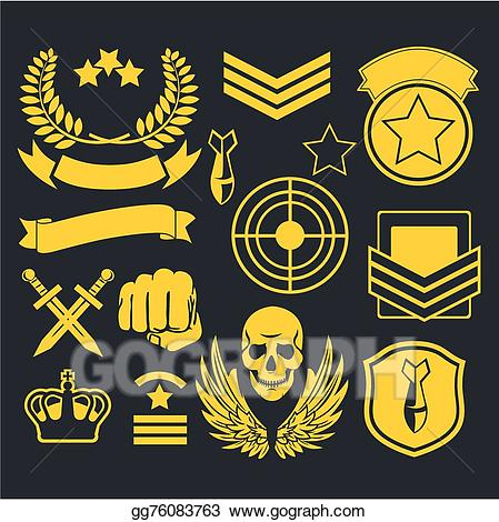 Army clipart patches. Vector stock special unit