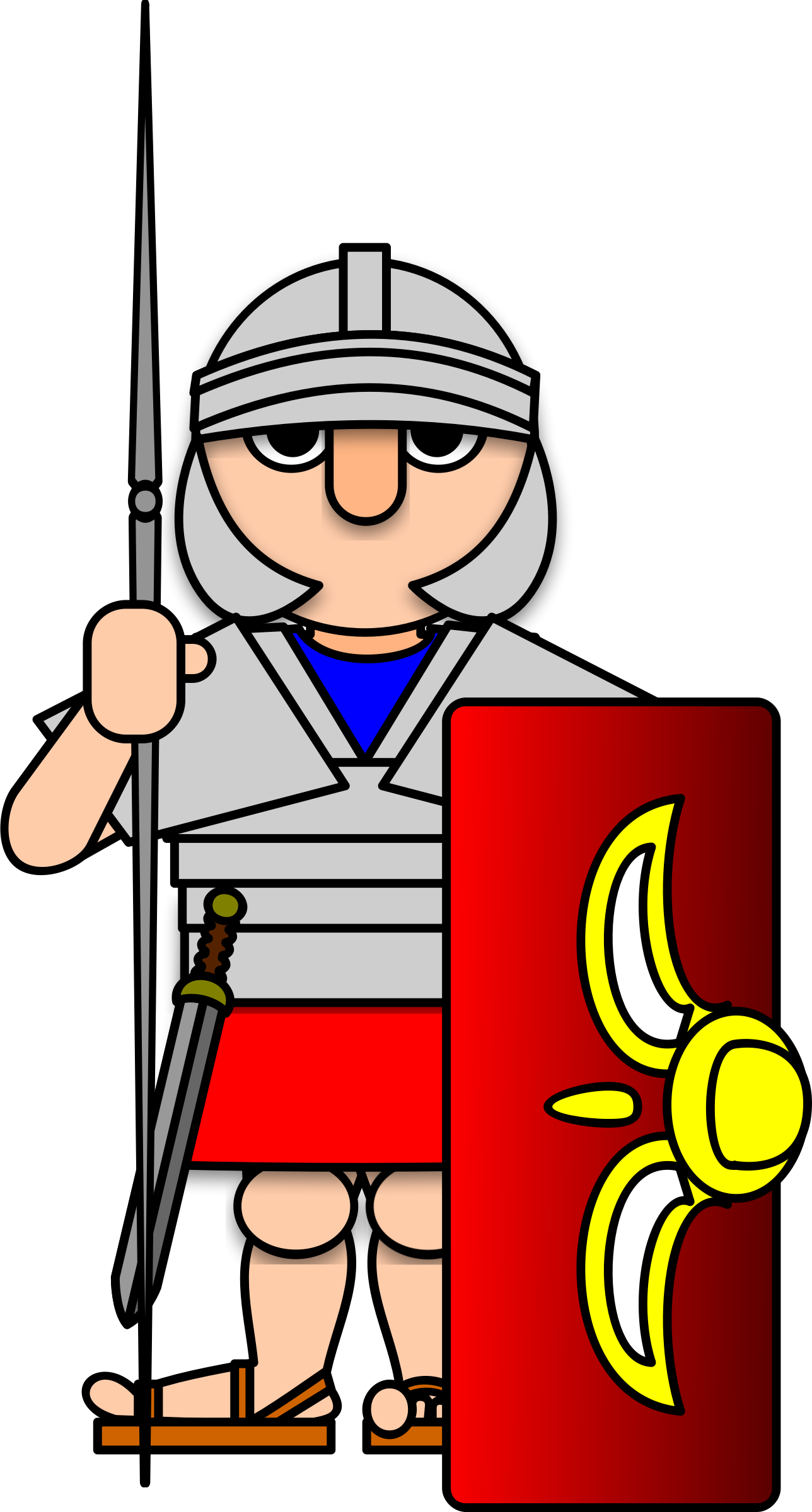 collection of army. Warrior clipart roman general