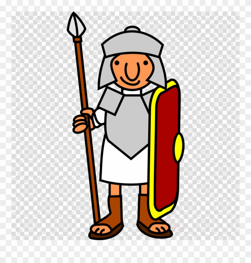 Warrior clipart roman battle. Cartoon soldier ancient rome