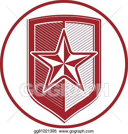 Eps illustration military with. Army clipart shield