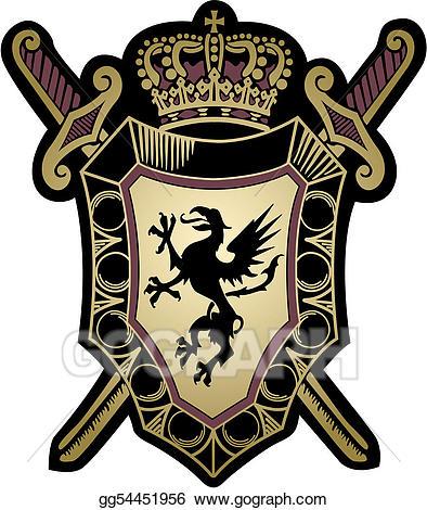 Army clipart shield. Vector art military design