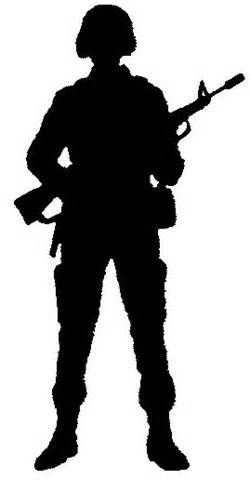 Army clipart silhouette. Photo soldier jpg pinterest