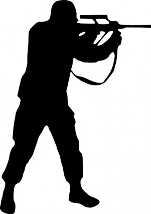 . Army clipart silhouette