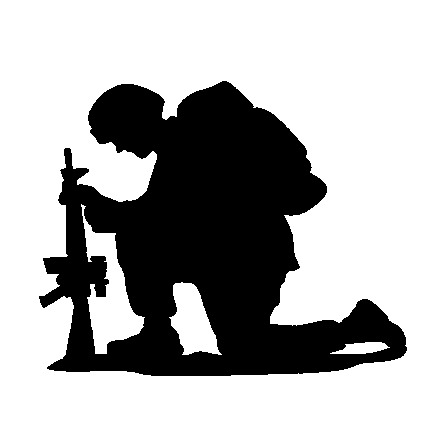 Soldier at getdrawings com. Army clipart silhouette