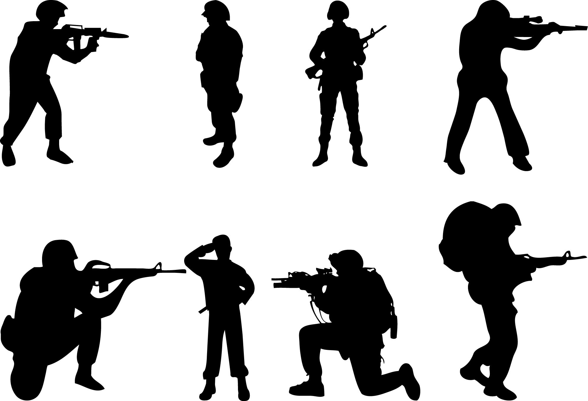 Soldier silhouettevector net people. Army clipart silhouette