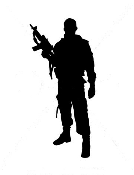 Army clipart silhouette. Military