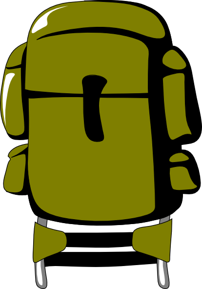 Green backpack clip art. Army clipart small army