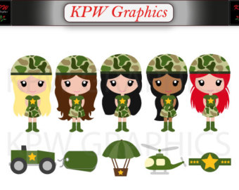 Army clipart small army. Camouflage etsy military girls
