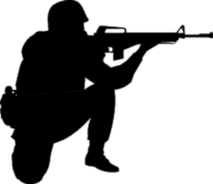 A public domain images. Army clipart soldier