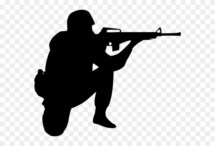 Library military realistic clip. Army clipart soldier