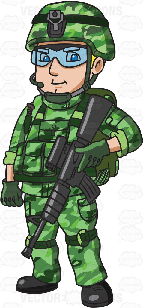Cartoon desktop backgrounds a. Army clipart soldier indian