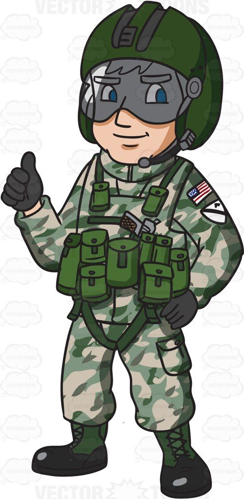 A helicopter pilot giving. Army clipart soldier us
