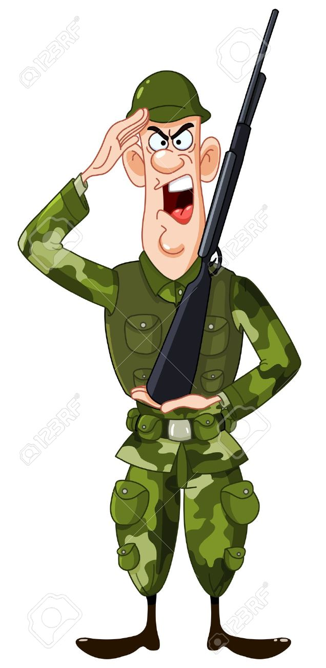 U s cartoon . Army clipart soldier us