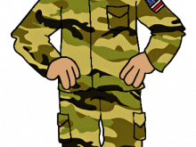 A infantry in uniform. Army clipart soldier us